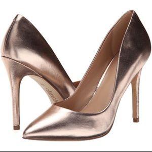Charles David rose gold pump heels